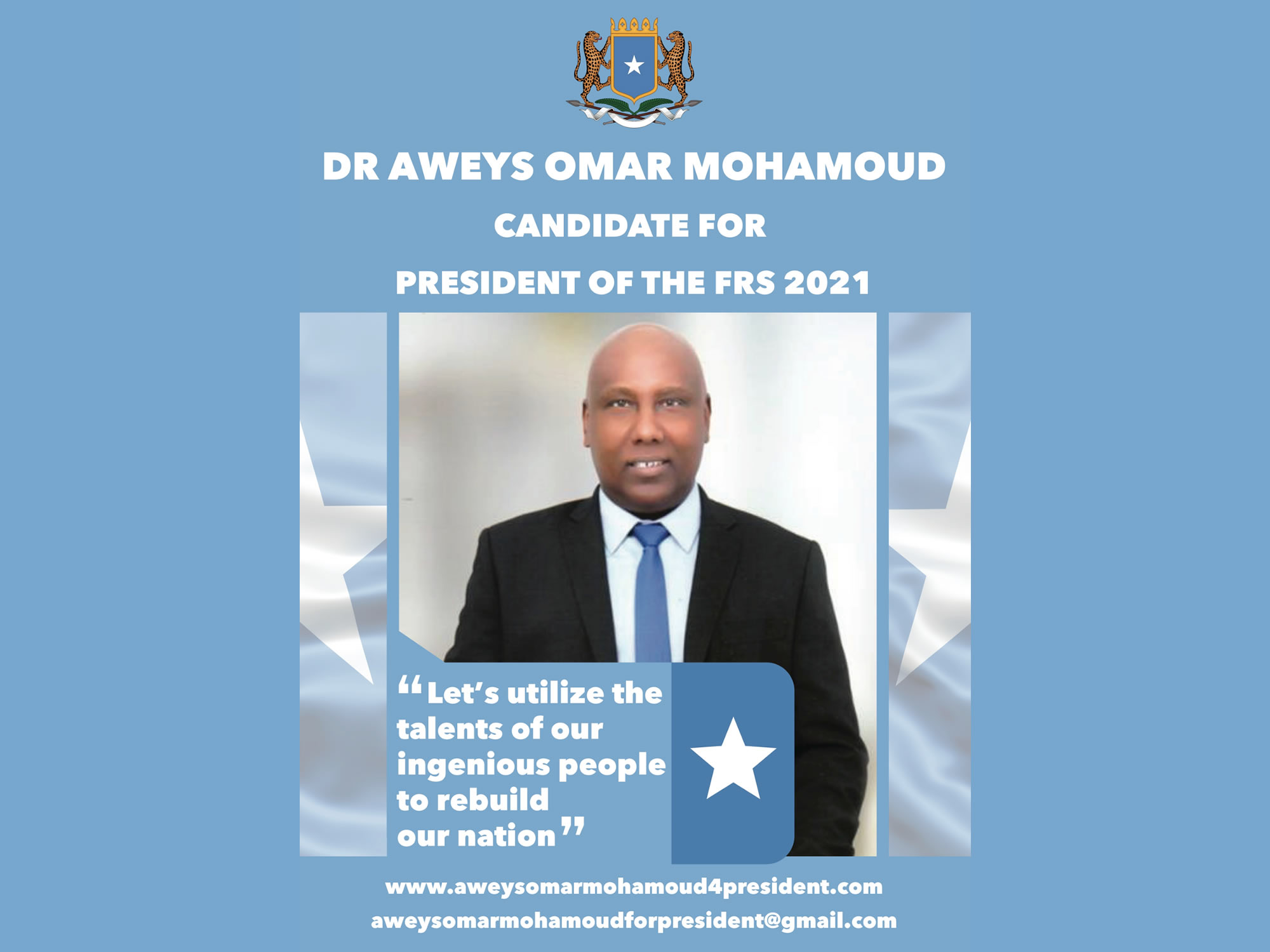 Statement of British Somali Elders Endorsing Dr Aweys Omar Mohamoud's Presidential Bid for 2021